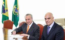 (Brasília - DF, 22/02/2017). Presidente Michel Temer durante encontro com o novo Ministro do STF, Alexandre de Moraes. Foto: Valdenio Vieira/PR